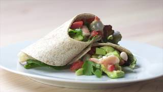 Prawn and Avocado Wrap Recipe | Swim Fitness Meal Plan | Eat Well, Live Well, Swim Well