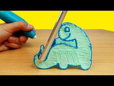 Новая 3D РУЧКА! Подставка для телефона Динозаврик!  alex boyko