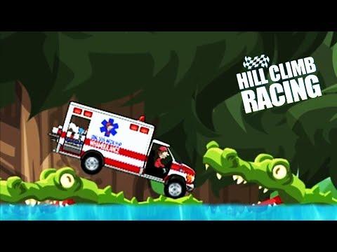 СКОРАЯ ПОМОЩЬ в ДЖУНГЛИ Hill Climb Racing game kids игра про машинки ВЕСЕЛЫЕ гонки ВИДЕО ДЕТЯМ