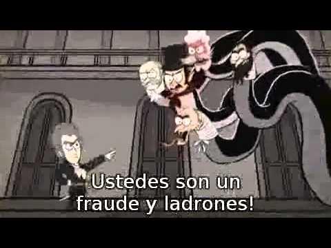 La Estafa financiera explicada en dibujos animados.