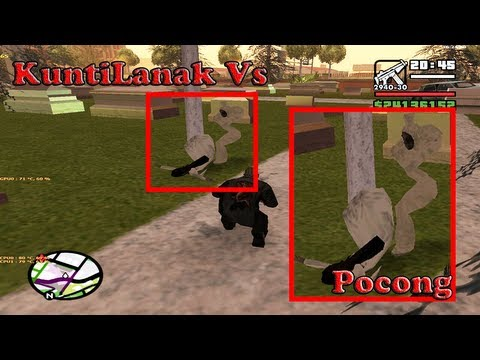 KuntiLanak Vs Pocong Fight GTA San Andreas   CLEO   [+ DOWNLOAD LINK]