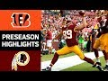 Bengals vs. Redskins | NFL Preseason Week 3 Game Highlights MP3