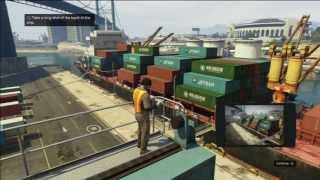 "Grand Theft Auto V (GTA 5) Walkthrough Part 47: Scouting the Port 2/2 ""PS3 Gameplay"" (HD)"