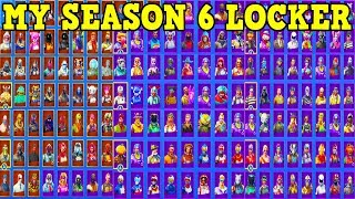 SHOWING MY LOCKER & STATS (SEASON 6) | ALL MY SKINS, PICKAXES, GLIDERS, EMOTES & MORE! | (800 Wins!)
