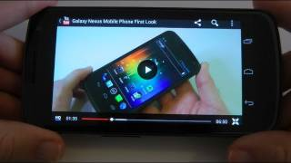 Galaxy Nexus Ice Cream Sandwich YouTube App