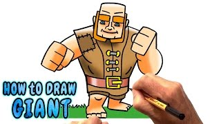 How to Draw Giant from Clash of Clans (NARRATED)