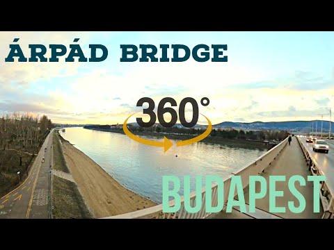 Virtual Run for Treadmill, 360 4K - Arpad Bridge (Árpád Híd) Budapest