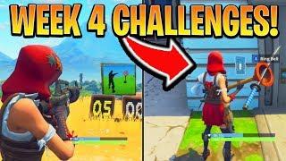 Fortnite ALL WEEK 4 CHALLENGES GUIDE! - SHOOTING GALLERIES Locations, Banner (Battle Royale Season 6