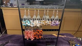 Finished Jewelry Update!!! Gemstone Chip Crystal Chandelier Earrings!!!