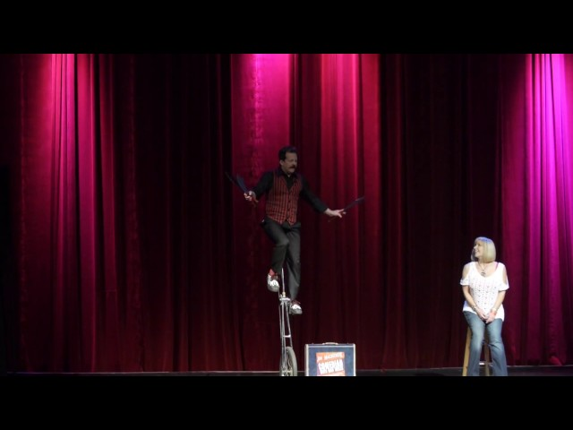 02 Jim Mackenzie   Unicycle Juggling  - Cirque March 2014