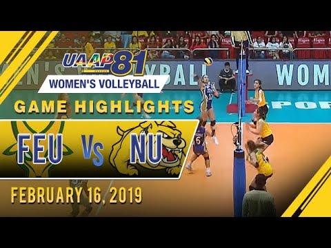 UAAP 81 WV: FEU vs NU  Game Highlights  February 16 2019