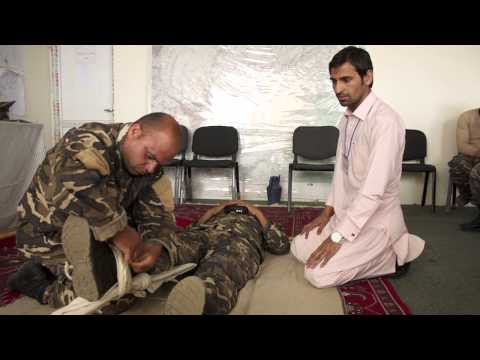 First aid training in Afghanistan