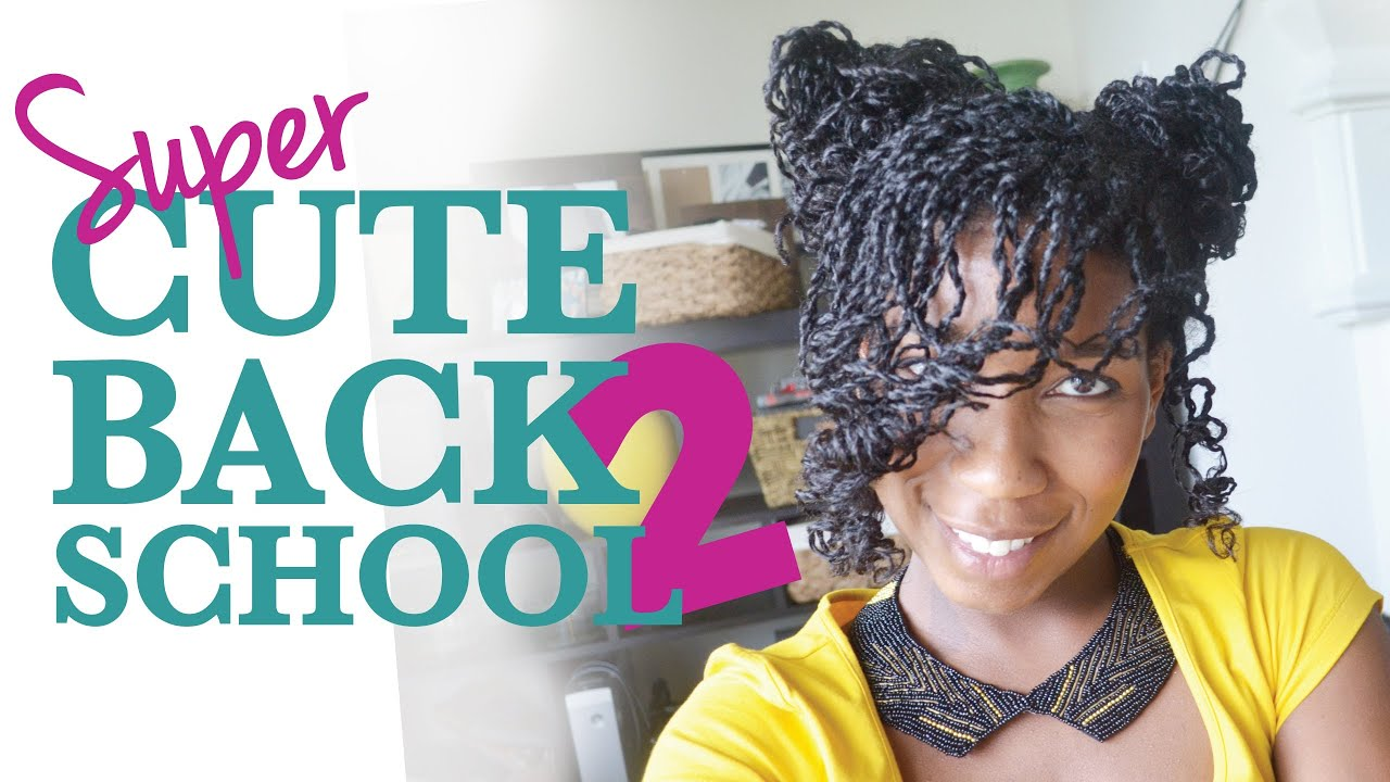 Super Cute Back School Hairstyle Mini Twists Natural