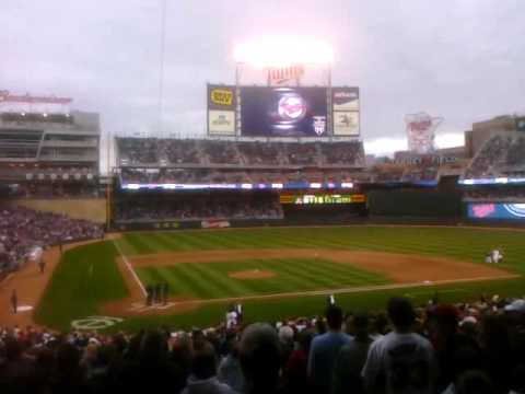 First time the Minnesota Twins were announced in Target Field Video