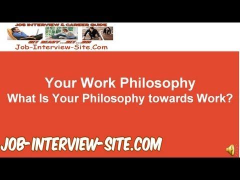 work philosophy portfolio examples