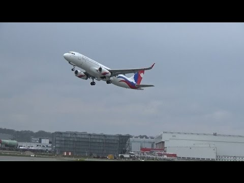 New A320 for NEPAL AIRLINES Delivery Flight: Takeoff Hamburg with relief supplies to help Nepal!