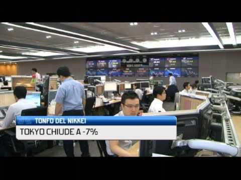 TONFO DEL NIKKEI, TOKYO CHIUDE A -7%