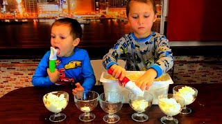 Funny Kids learn colors with ice cream