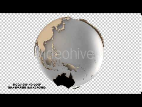 Earth globe Motion Graphics Animation 3D Element