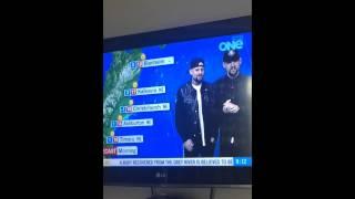 Joel Madden & Benji Madden do the weather in New Zealand #legend
