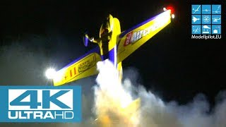 [4K] HUGE RC EXTRA 330SC NIGHT FLIGHT SHOW GERNOT BRUCKMANN AEROBATIC FLIGHT