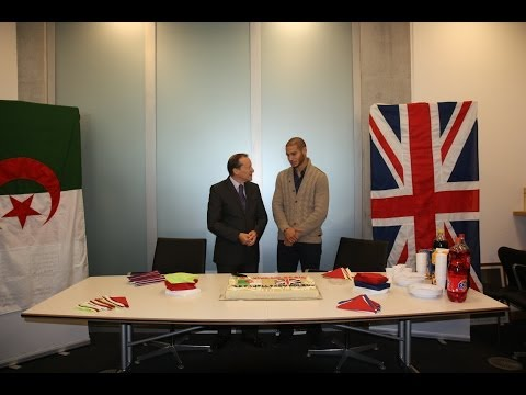 British Embassy Algiers celebrates victory with Adlene Guedioura