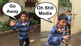 Ajay Devgan Son Yug Gets Scared And Runs Away From Media At Incredibles 2 Screening