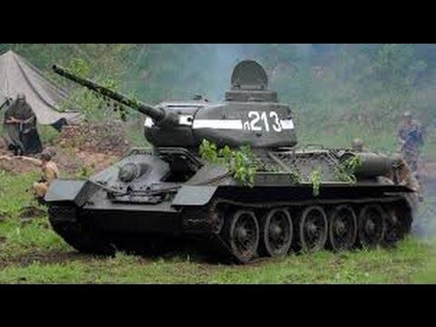 Малыш лепит танк T-34