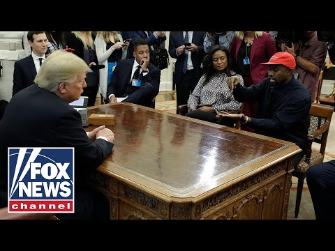 President Trump and Kanye West meet in Oval Office