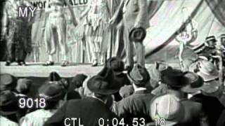 Stock footage freak show at a circus bearded lady jack sprat and