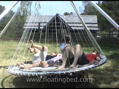 Outdoor bed with canopy - Floating Bed Family Fun Youtube