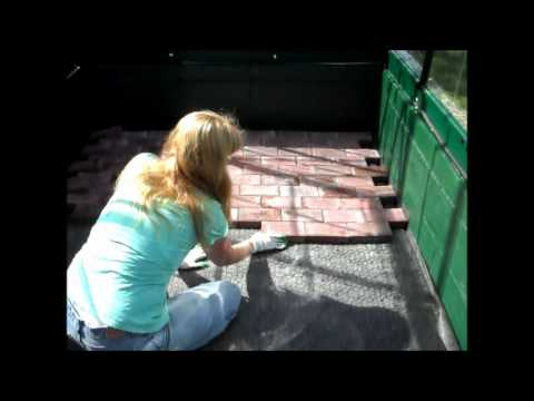How to Lay a Paver Brick Floor in a Greenhouse.wmv