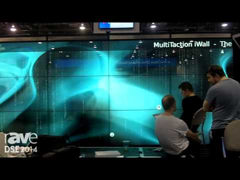 DSE 2014: MultiTaction Shows Off Its New MultiTaction iWall 16×9′ Interactive Wall