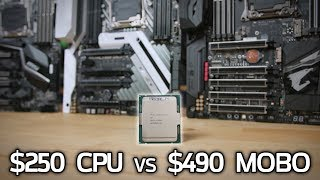 What does a $250 7640X CPU do to a $490 X299 Motherboard?