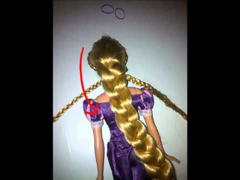 Tangled Rapunzel Doll Braid Tutorial!