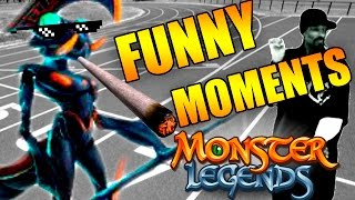 COMPILATION OF ANIMATED FUNNY MOMENTS #1 - MONSTER LEGENDS