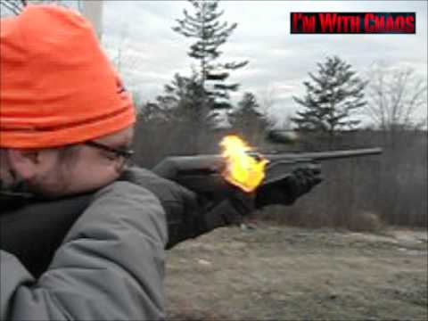 Benelli Vinci 12 gauge Shotgun Recoil Demo - SLOW MOTION Flamethrower!
