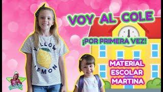 VOY AL COLE POR PRIMERA VEZ!! HAUL MATERIAL ESCOLAR 2018-19!! VUELTA AL COLE MARTINA