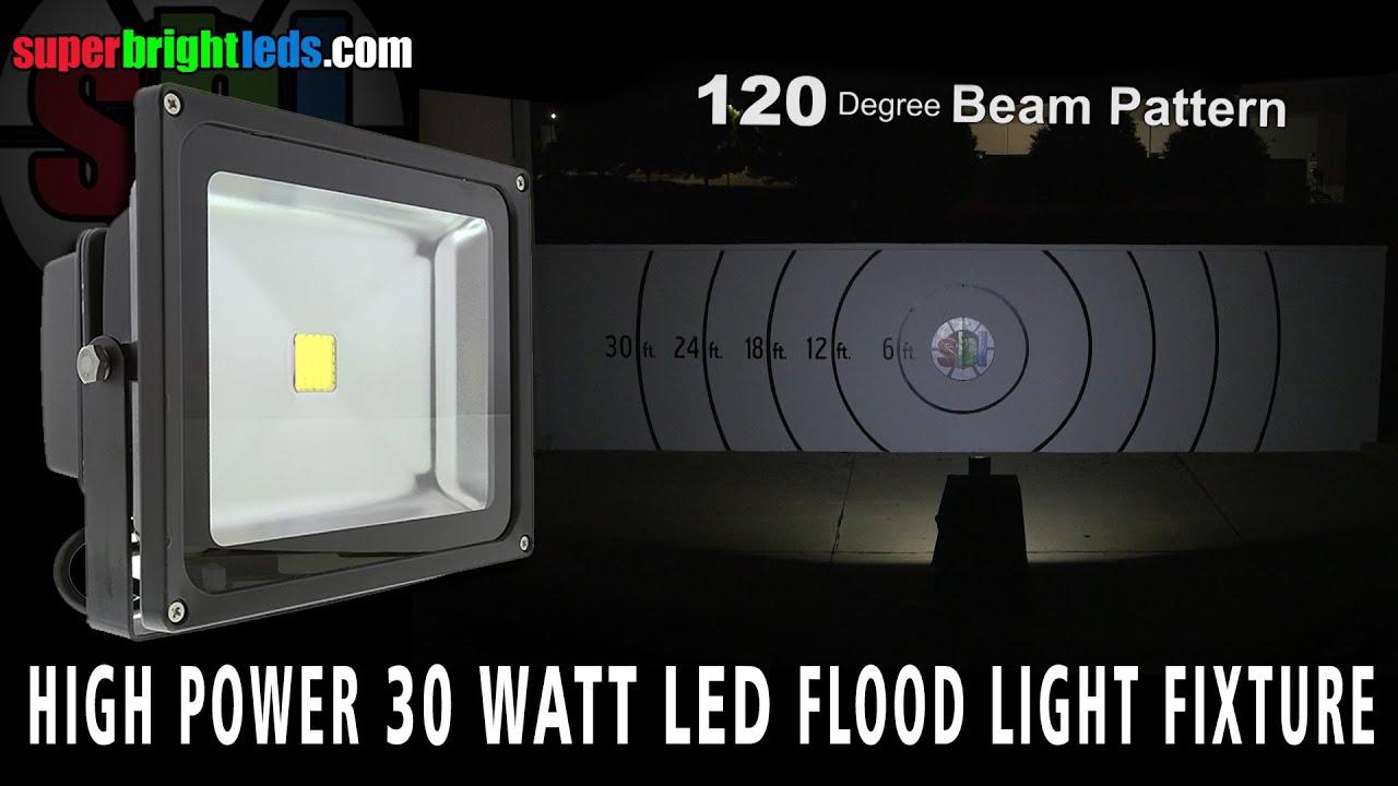 Led Flood Light 30 Watt Youtube