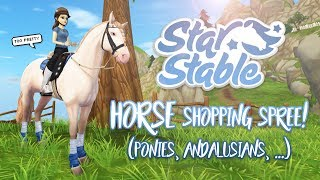 Horse shopping spree! (Ponies, Andalusians, ...) | Star Stable Updates