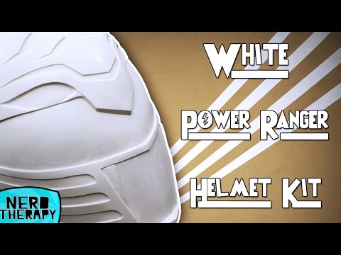 White Power Ranger Helmet Kit