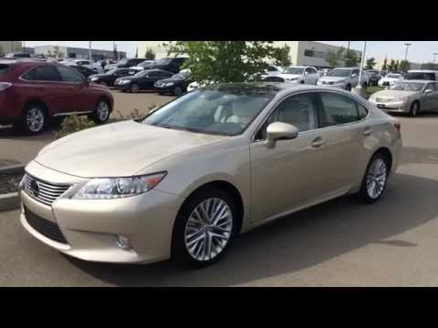 Lexus Certified Pre Owned 2013 ES 350 - Gold on Parchment - Technology Review - Calgary, AB