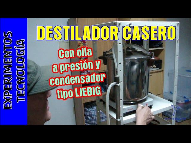 Destilador Casero. Destilar alcohol etanol (etílico)