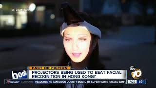 Face-projectors used to beat facial recognition technology?