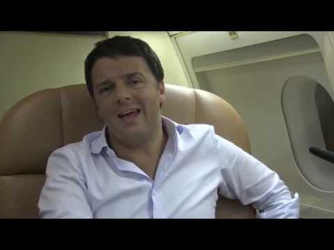 Matteo Renzi in Africa - Video su Aereo