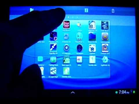 Organize & Move Android Home Screen Apps ( Android 4.0 Samsung Galaxy Tab 2 7