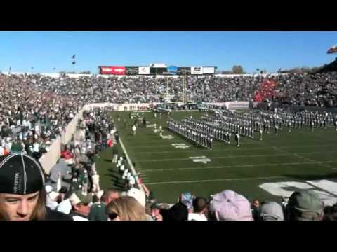 Gerard Butler at Michigan State University football game