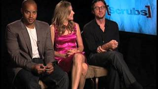 Zach Braff, Sarah Chalke, Donald Faison interview
