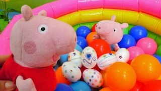 Peppa Wutz bemalt Ostereier. Video für Kinder