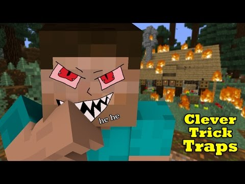 Simple Trick-Traps to kill Pros in Mini-Games & Survival - Minecraft